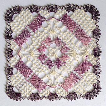 Un carré en couleurs de Ines (modèle de lace express)