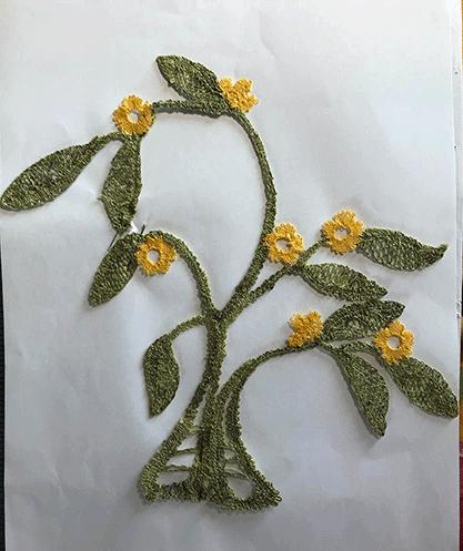 Arbre fleuri de Françoise (modèle de MJ Massol)