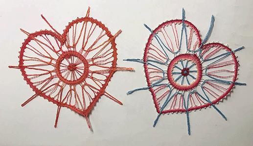 Des cœurs de Régine (modèle de L.Suchanek)