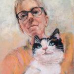 Portrait de mj (pastel sec 30x40)